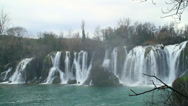 Stock Video Footage of Kravice is a waterfall on the Trebižat River in Bosnia and Herzegovina