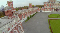 Architectural complex of Petrovsky Travelling Palace Stock Footage