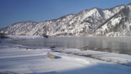 Stock Video Footage of Winter Yenisei Divnogorsk 01