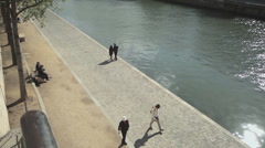 Embankment of river Sein Stock Footage