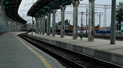 Railway station. Location: Donetsk, Ukraine - stock footage