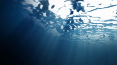 Ocean surface water from inside Stock Footage