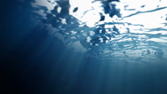 Stock Video Footage of Ocean surface water from inside