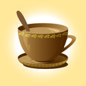 Stock Illustration of cup of coffee brown
