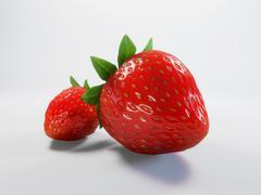 Stock Illustration of strawberry (high-quality rendered 3d, straight and metaphorical sense)