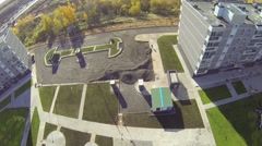 Building site of dwelling complex Romashkovo Stock Footage