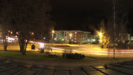 Stock Video Footage of Roundabout Night Timelapse