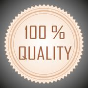 Quality guarantee sign Stock Illustration
