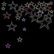 Stars on a black black Stock Illustration