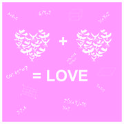 ?ard the formula of love birds Stock Illustration