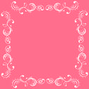 Stock Illustration of frame in white and pink color