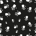 Stock Illustration of seamless pattern of hand