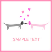 couple of dogs - stock illustration