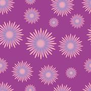 Seamless pattern with lilac flowers Stock Illustration