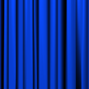 Blue curtain with pleats Stock Illustration