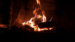 The Fireplace Stock Footage