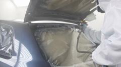 Car varnishing in progress Stock Footage