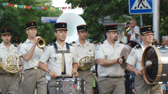 Festival of military orchestras in Sevastopol - June 15, 2013 Stock Footage
