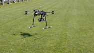 Stock Video Footage of Drone lifts off