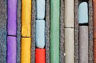 Stock Photo of several sticks of used artistic dry pastel