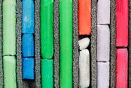 Stock Photo of many-coloured used artistic dry pastel