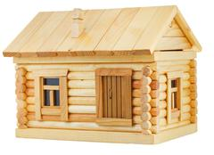 Stock Photo of exterior of wooden log house
