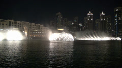 Stock Video Footage of Dubai Fountain at night