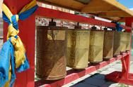 Stock Photo of Prayer Wheels