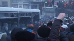 Київ, 19 січня 2014 року. Революція в Україні! Stock Footage