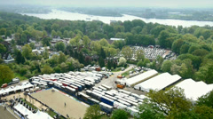 Aerial view of Hamburg Stock Footage