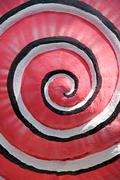 pattern of pink colors rolling circle. - stock photo