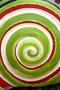 Pattern of green colors rolling circle. Stock Photos