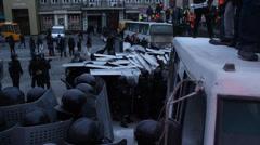 "KIEV, Киев, Украина - the riot police. ""беркут"" Stock Footage"