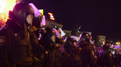 Riot police, euromaidan meeting in Kiev, Ukraine. Stock Footage