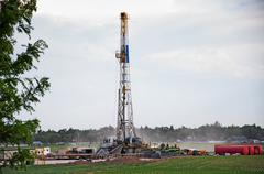 Drilling Rig in Central Colorado, USA - stock photo