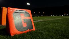 "Goal line ""G"" at Night Stock Footage"
