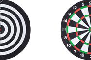 Stock Photo of dartboard background with white copy space