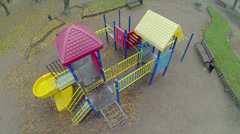 Colourful constructions on childish playgrounds Stock Footage