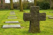 Stock Photo of german cemetery friedhof in flanders world war one belgium