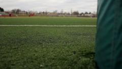 Goalpost Turf Dolly - stock footage