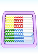 multi-coloured abacus - stock illustration
