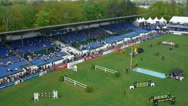 Stock Video Footage of Aerial shot of equestrian sport