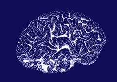 Brain impulses. Thinking prosess. - stock illustration