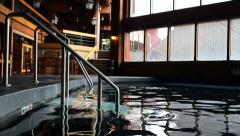 Indoor Pool at Ski Resort Stock Footage