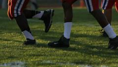 Football Players Legs Run By Stock Footage