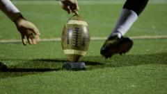Football Field Goal Practice - stock footage