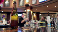 Beer On Bar Stock Footage