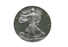 2014 proof united states of america silver dollar - stock photo