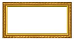 The old gold wooden frame - stock illustration