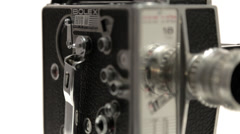 Bolex 16mm Film Camera - Dolly shot Stock Footage